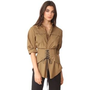 Acler 'Talbot' corset button down shirt